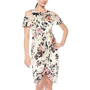 Jax Women's Floral Cold Shoulder Dress Size 10 NWT